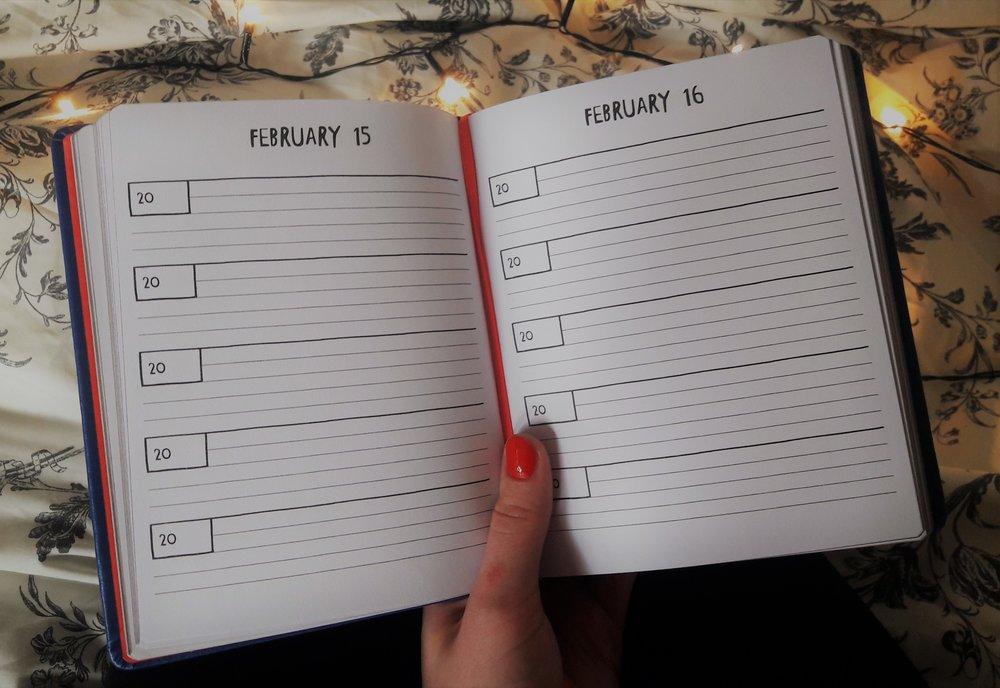 dziennik pięcioletni z Tigera - jak wygląda w środku 5 years diary