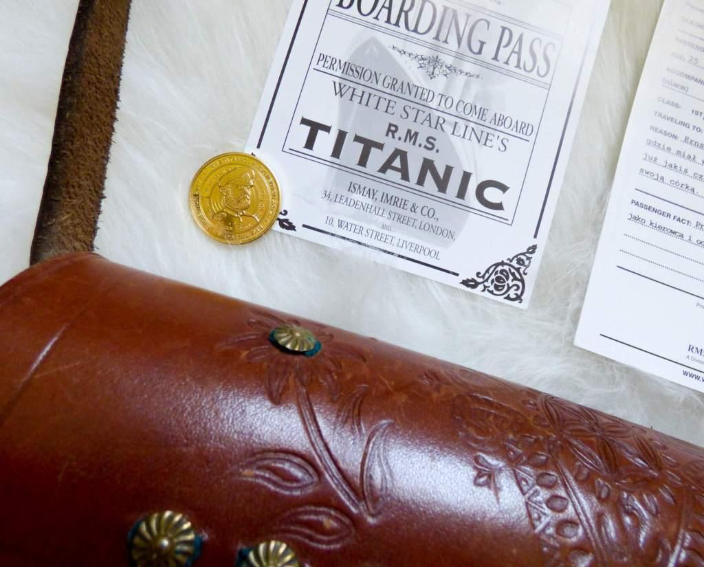 Karta pokładowa z Titanica - wystawa Titanic w Krakowie - uczę się lubić Kraków