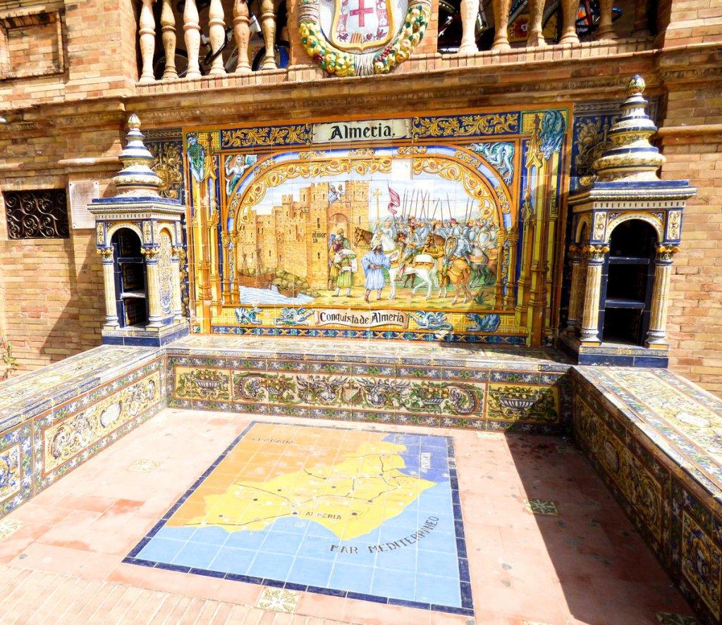 Plac Hiszpański w Sewilli - pawilon Almeria