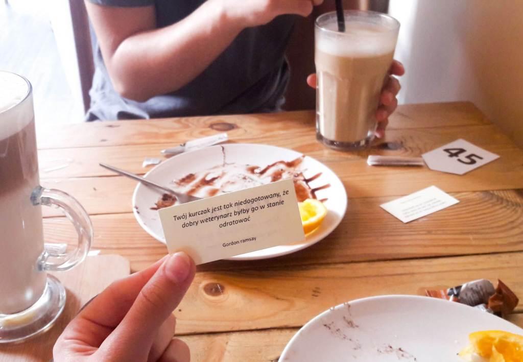 do posta jak przeżyć na studiach - Cytat z Cytat Cafe w w Krakowie