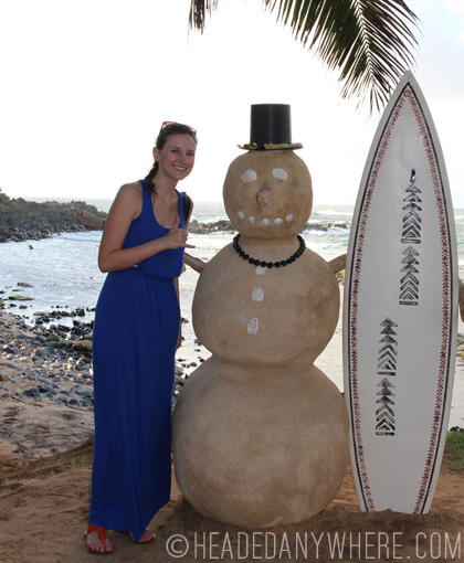 Me and the Mama's Fish House Snowman