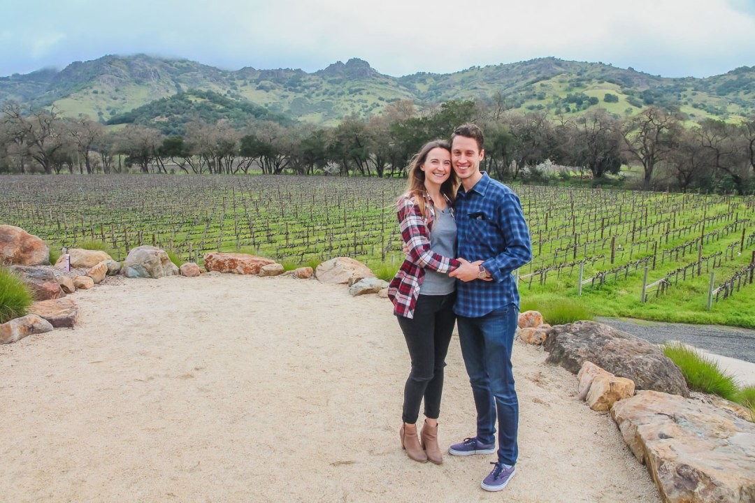 Couple in Napa Valley