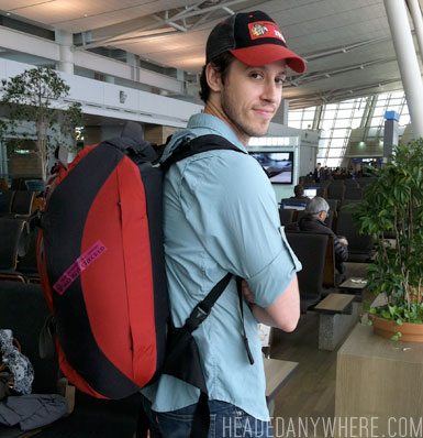 Ryan at Incheon with Osprey 46L Bag