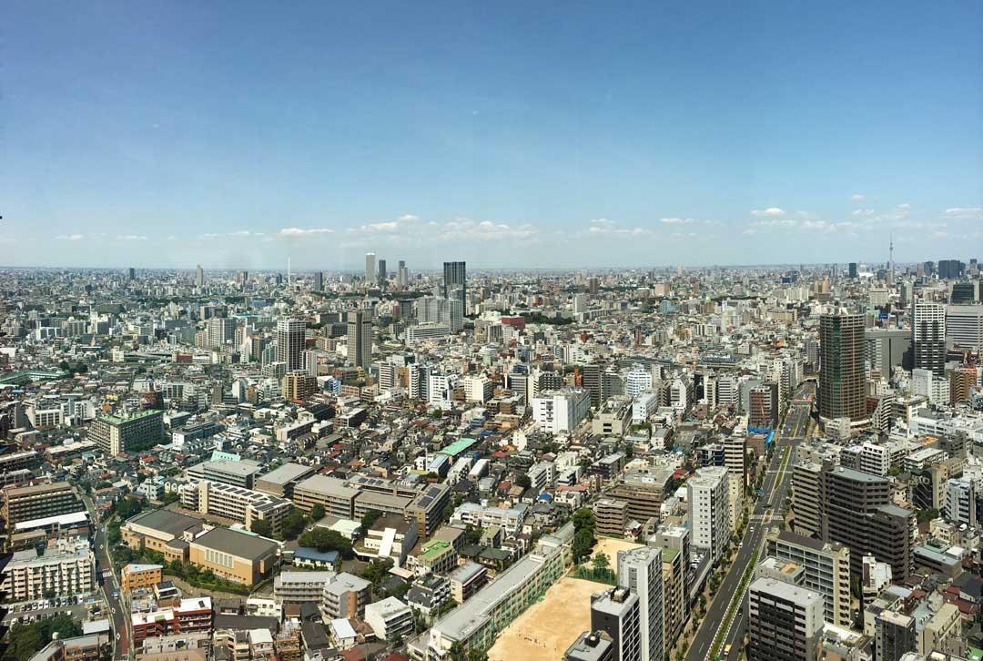 View of Tokyo looking towards Tokyo Sky Tree