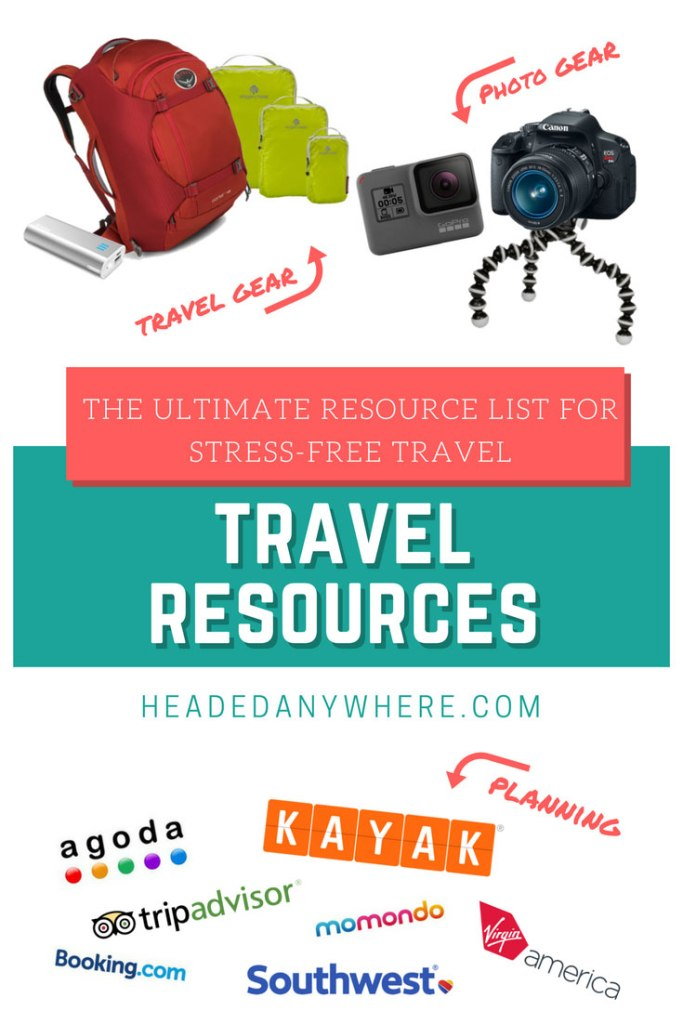 Travel Resources to help pack and plan your next trip!