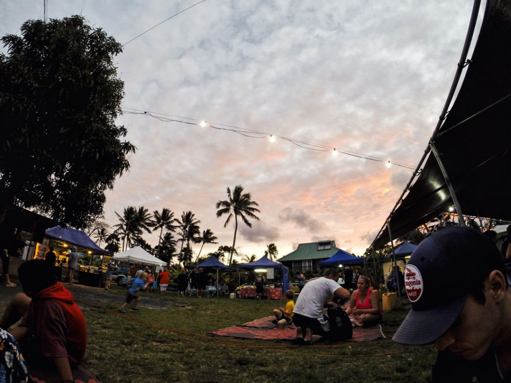 Sunset at Muri Night Market on Rarotonga Cook Islands