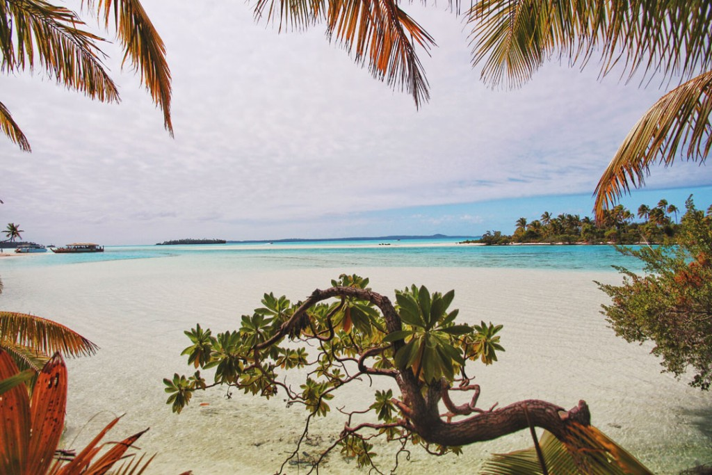 View of Aitutaki Lagoon from One Foot Island, Cook Islands