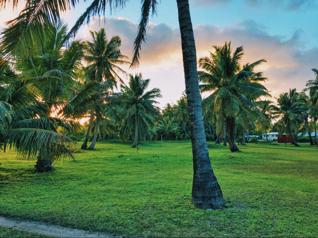 Sunrise at Aitutaki Villagein Aitutaki the Cook Islands
