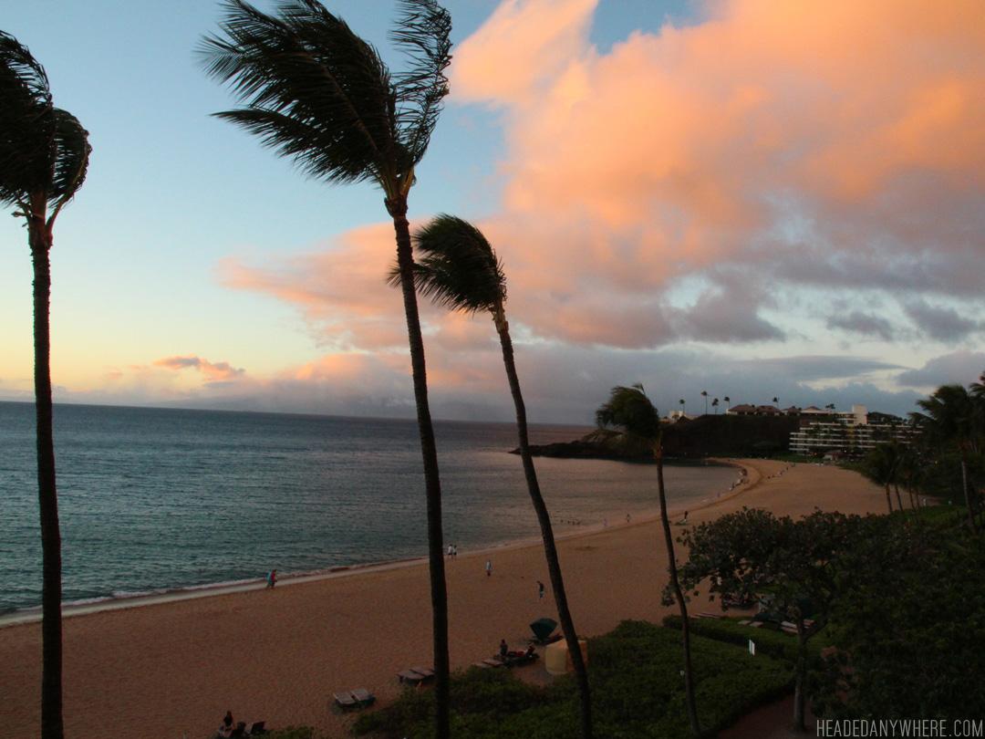 Sunset on Ka'anapali Beach, Maui