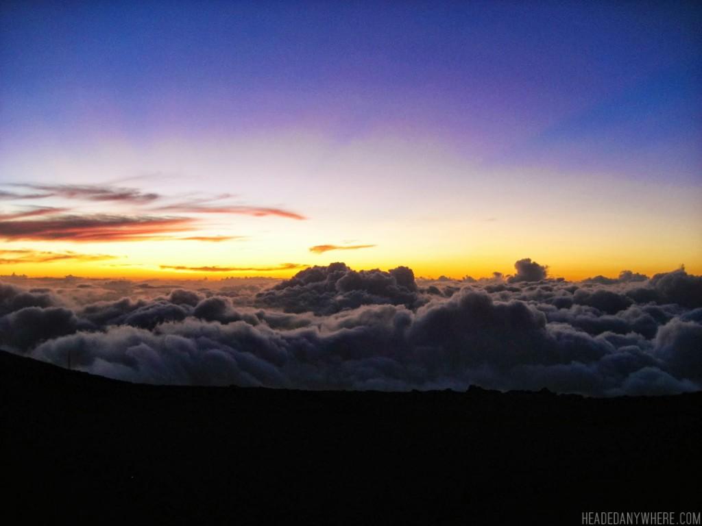 Mt. Haleakala at sunset.