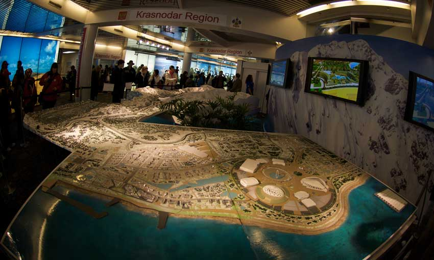 Sochi Olympic model display