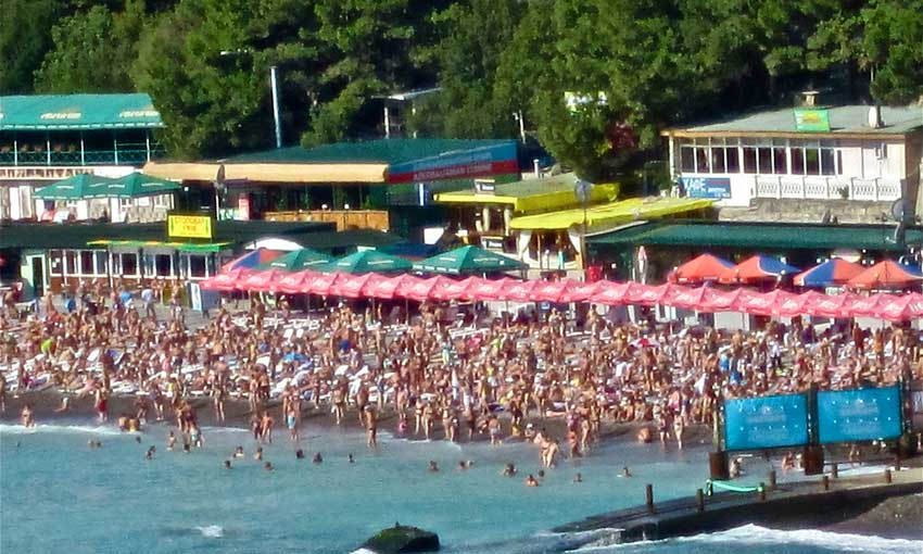 Sochi Beach in Summer