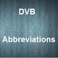 DVB Abbreviations