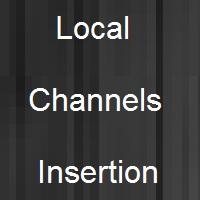 insert local channels in digital headend