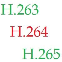 H.263 H.264 H.265 codecs