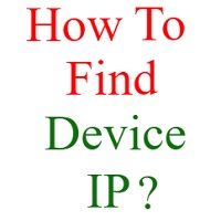how to find ip of device