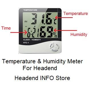humidity & temperature meter for headend