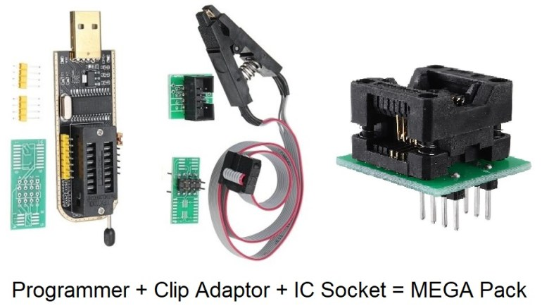 buy ch341 programmer , clip adaptor and ic socket