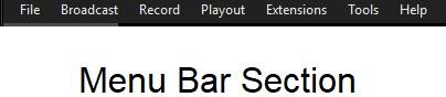 xsplit broadcaster menu bar