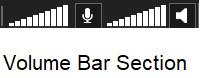 xsplit broadcaster volume bar