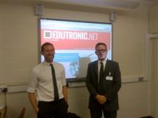 With @Edutronic_Net in his wonderful classroom