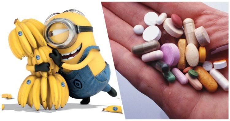Бананы не для гипертоников:несовместимые медицинские препараты и продукты питания