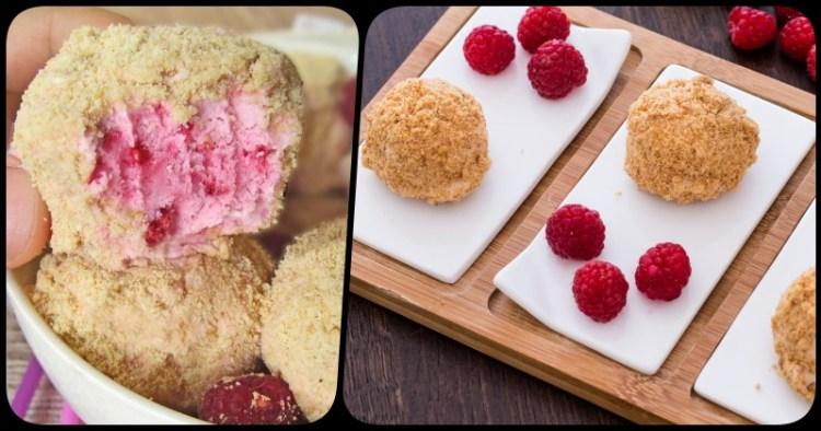 Здорово и вкусно без выпекания: малиновые сырки по простому рецепту за 15 минут