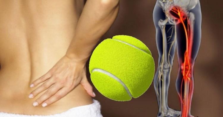 Теннисный мяч против болей в спине: малоизвестная техника против воспаленного седалищного нерва