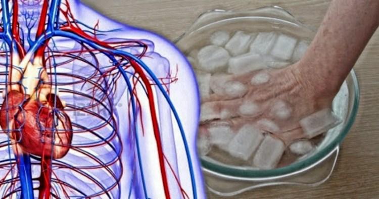 Опустив пальцы в холодную воду на 30 секунд, можно быстро узнать о состоянии своего здоровья
