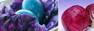 Как покрасить яйца красной капустой в оригинальные цвета