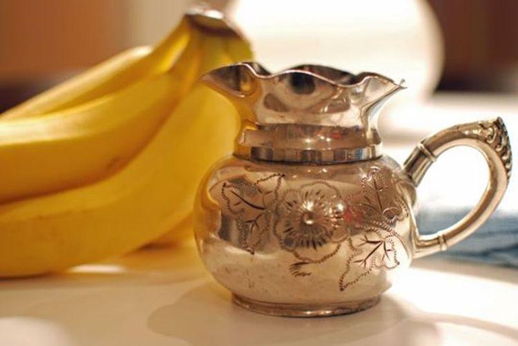 Банановая кожура для полировки серебра