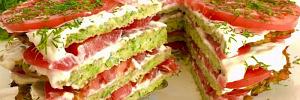 Сочный кабачковый торт с помидорами: готовим оригинальную летнюю закуску из овощей