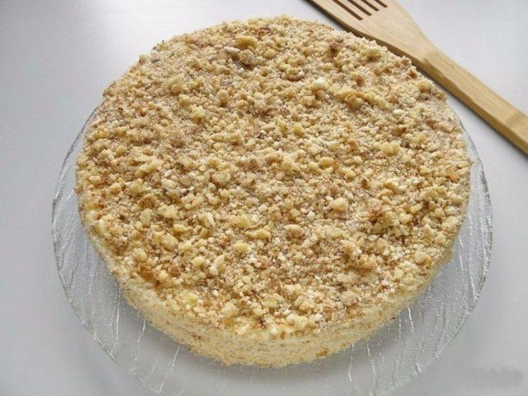 Жареный торт на сгущенном молоке: рецепт сладости без выпекания в духовке