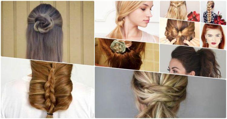 Красивая прическа за 5 минут: 10 способов завязать волосы в косичку, связку или пучок