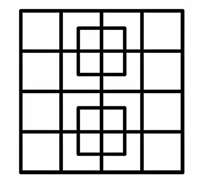 Сколько квадратов вы найдете на картинке? Проверьте свою внимательность!
