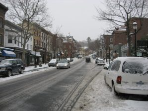 main street tarrytown_winter