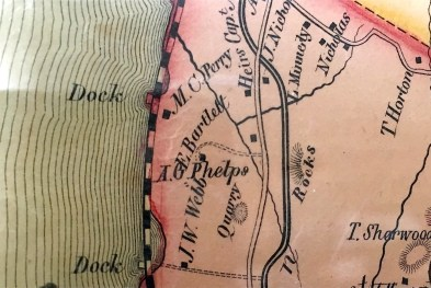 "Period map showing Mackenzie's parcel labeled as ""E. Bartlett"""