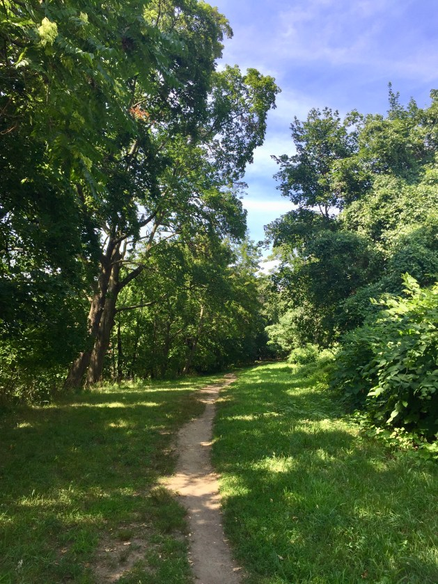 In the old days I would pick up the aqueduct trail behind the old A&P (C-Town).