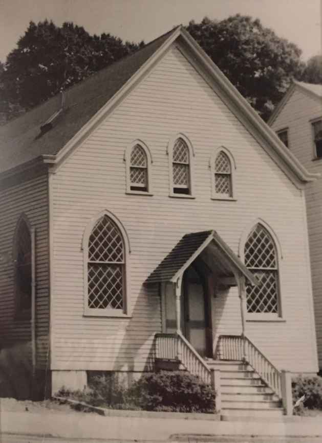 Exterior of the former synagogue in Sleepy Hollow