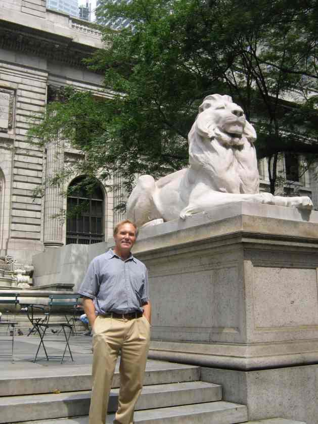 The writer, Henry John Steiner, at the NYPL many years later
