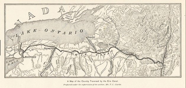 Map of the Erie Canal