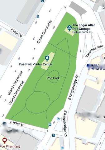 Poe Park map