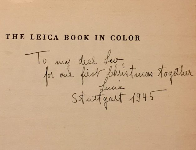Lucie's inscription