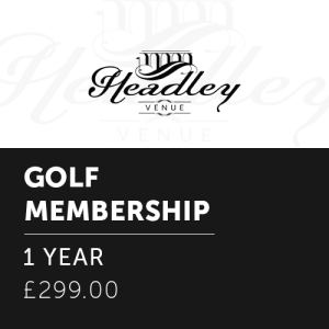Golf Membership – 1 Year
