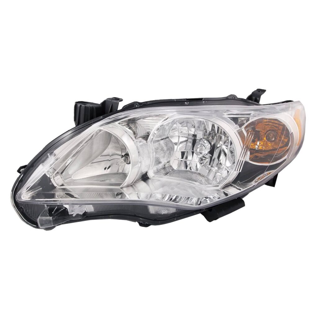 For 2011-2013 Toyota Corolla Chrome Clear Headlights Front Lamps Direct Replacement Left + Right Pair