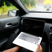 working from your car