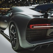 Bugatti Chiron Sport Black from behind