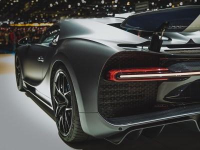 Bugatti Chiron Sport Black from behind