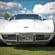 Corvette with pop-up headlights
