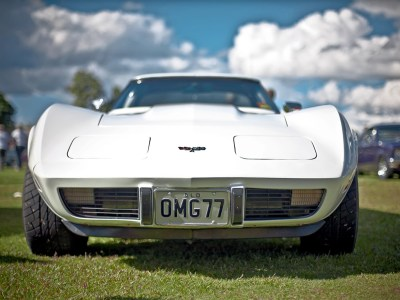 Corvette with pop-up headlights